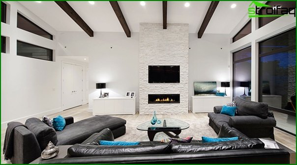 Living room in modern style (high-tech furniture) - 3