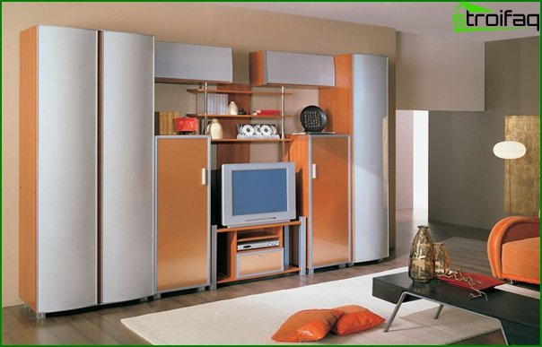 Living room furniture in a modern style (techno) - 2