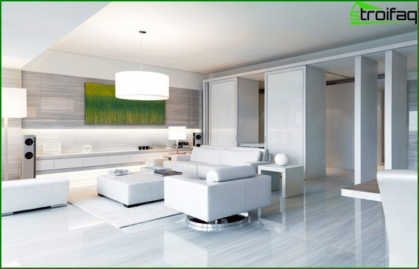 Living room furniture in a modern style (techno) - 3
