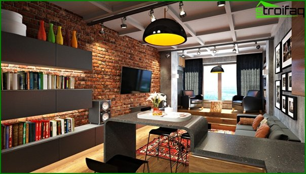 Living room furniture in a modern style (loft) - 5