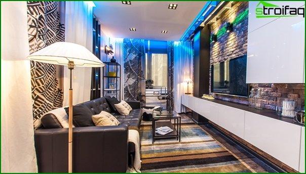 Living room in modern style (furniture loft) - 1