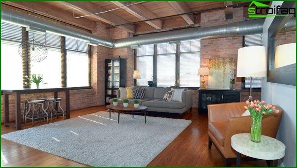 Living room in modern style (furniture loft) - 5