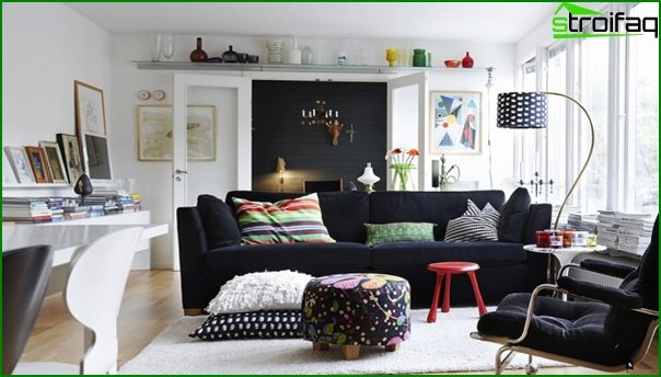 Living room in modern style (fusion furniture) - 2