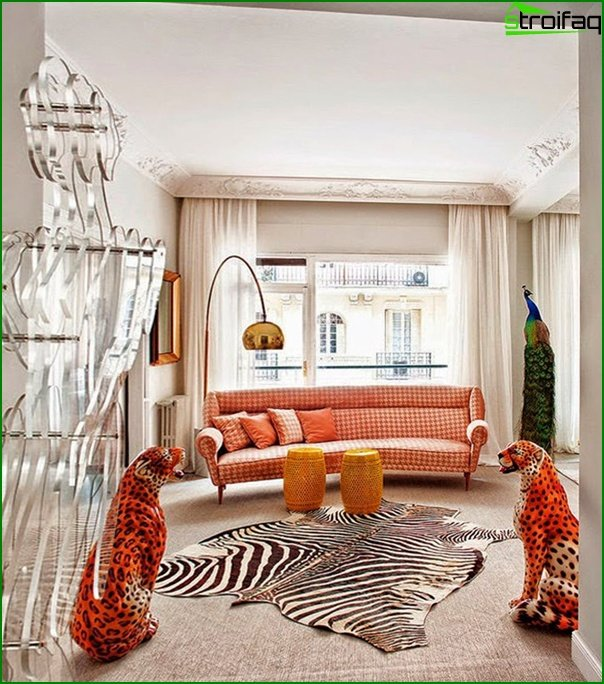 Living room in modern style (fusion furniture) - 4
