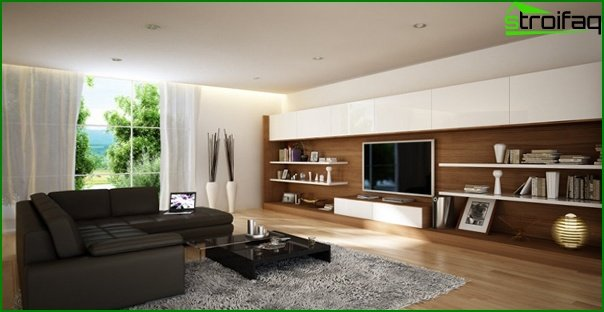 Living room in modern style (modern furniture) - 4