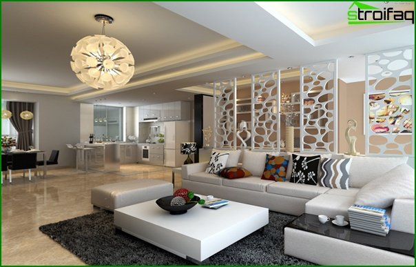 Living room in modern style (modern furniture) - 5