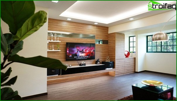 Living room in modern style (eco-friendly furniture) - 4
