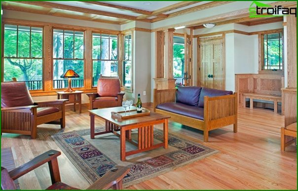 Living room in modern style (eco-friendly furniture) - 5