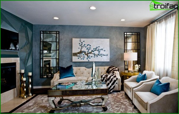 Living room furniture in modern style (art deco) - 5