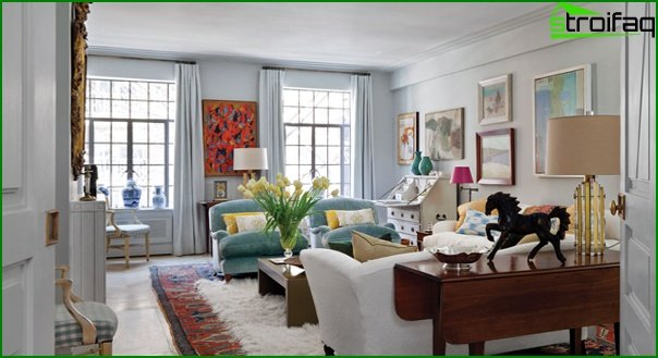 Living room in modern style (Art Deco furniture) - 1