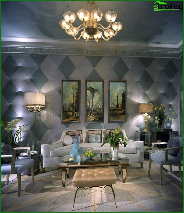 Living room in modern style (Art Deco furniture) - 2