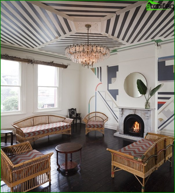 Living room in modern style (Art Deco furniture) - 3