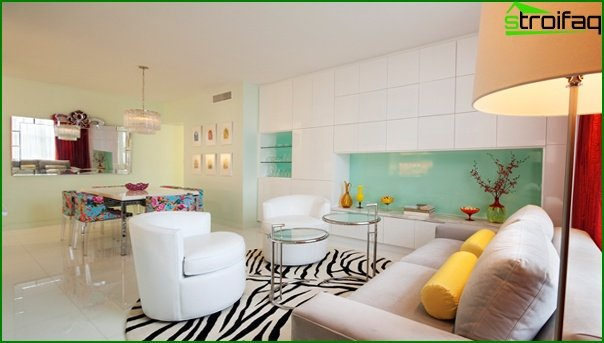 Living room in modern style (Art Deco furniture) - 4
