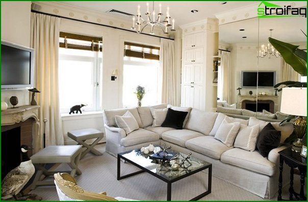 Living room in modern style (Art Deco furniture) - 5