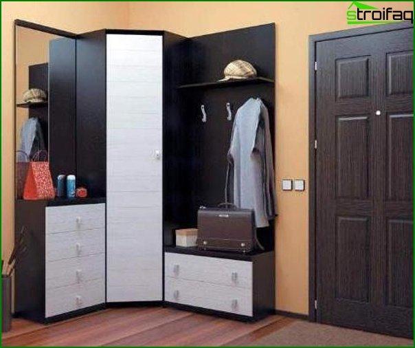 Photo of hallway design with corner cupboard