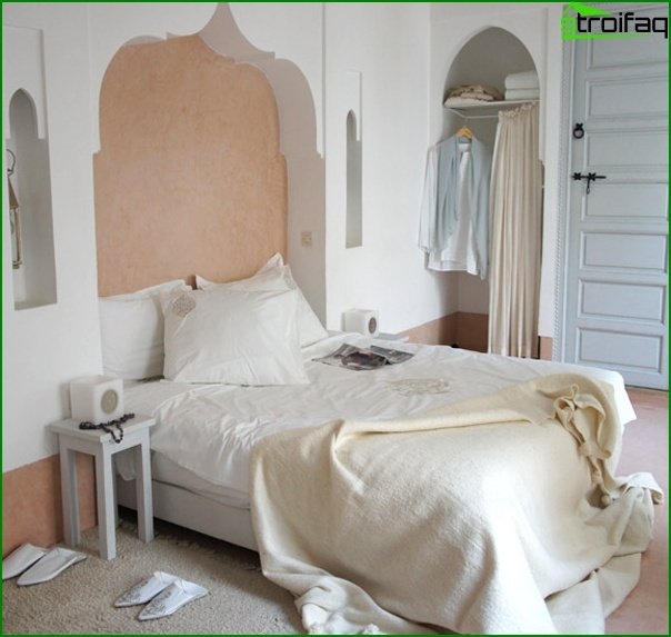 How to decorate a small bedroom - photo 4