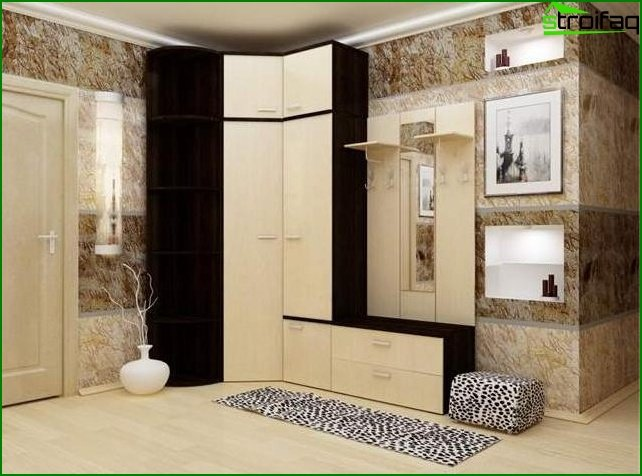 Furniture in the corridor
