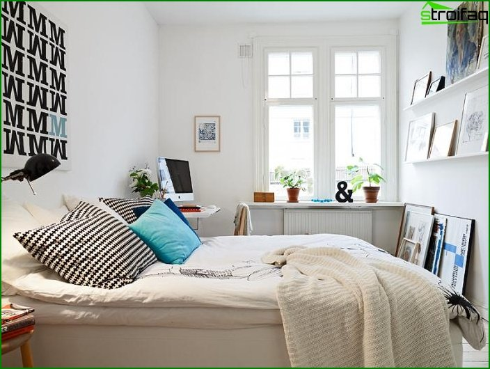 How to decorate a small bedroom - photo 5