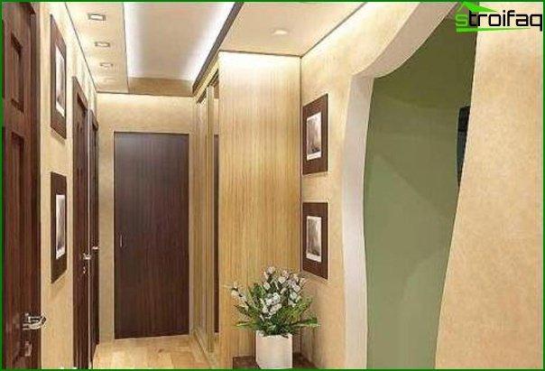 Beautiful interior design of the hallway