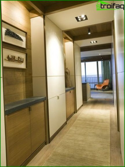 Modern hallway design in a small hallway photo