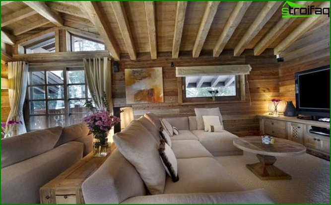 Chalet-style interior