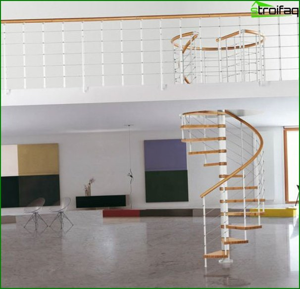 Design of a metal staircase to the second floor