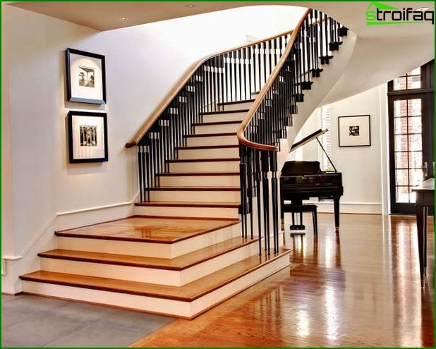 Photo of the classic staircase