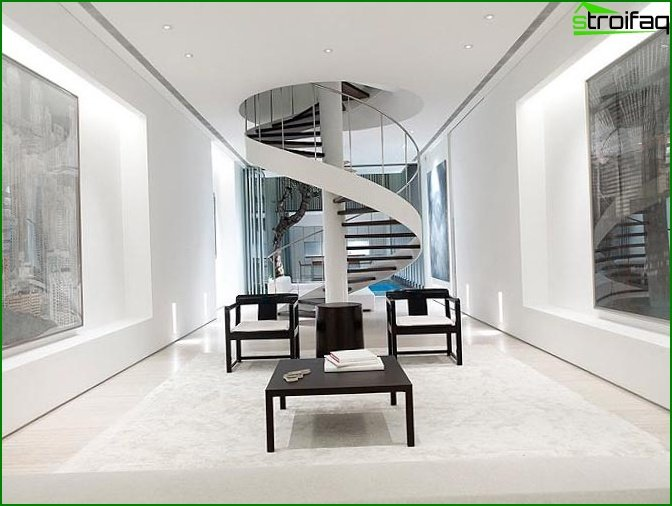 Staircase in high-tech style