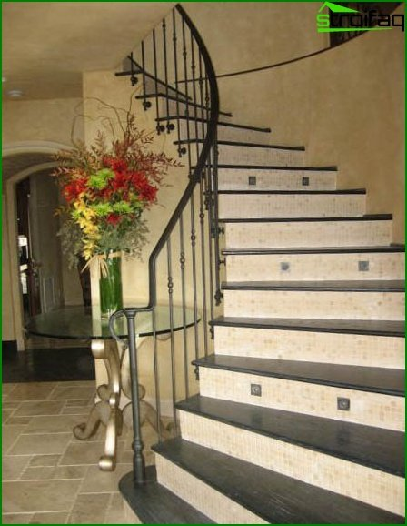 Stairs in Provence style
