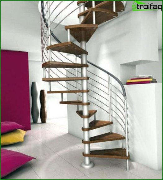 Design of stairs to the second floor: photo