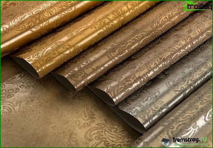 Bedroom wallpapers from metallized nitei?