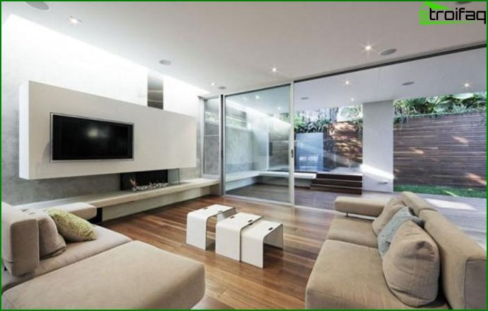 Modern style in the hall design photo 1