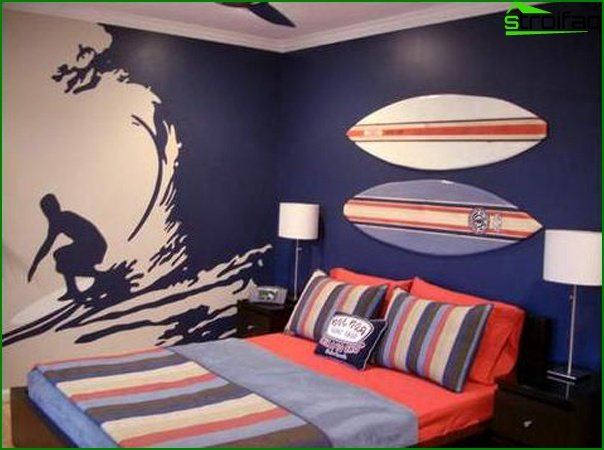 Design of a small bedroom 21