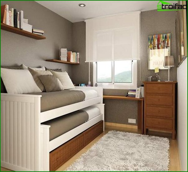 Design of a small bedroom 24