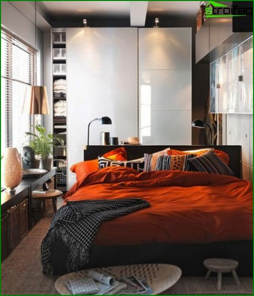 Interior of a small bedroom - photo 1