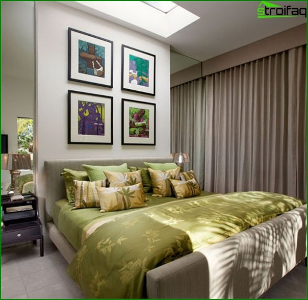 Interior of a small bedroom - photo 4