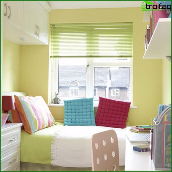Interior of a small bedroom - photo 5
