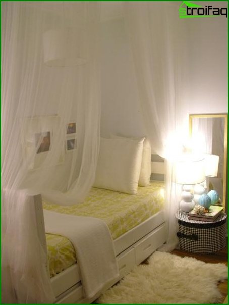 Design of a small bedroom - photo 1