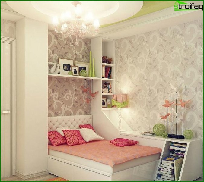 Design of a small bedroom - photo 5
