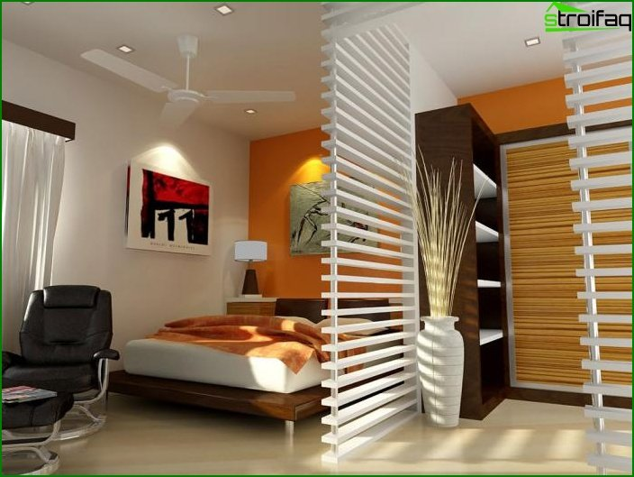 Design of one-room apartment 6