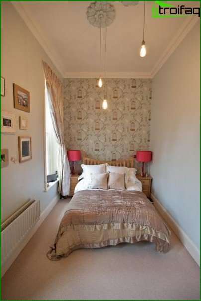 Design of a small bedroom - photo 6