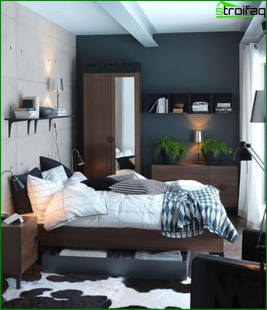 Design of a small bedroom - photo 8