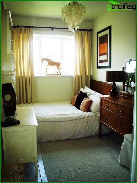 Design of a small bedroom - photo 9