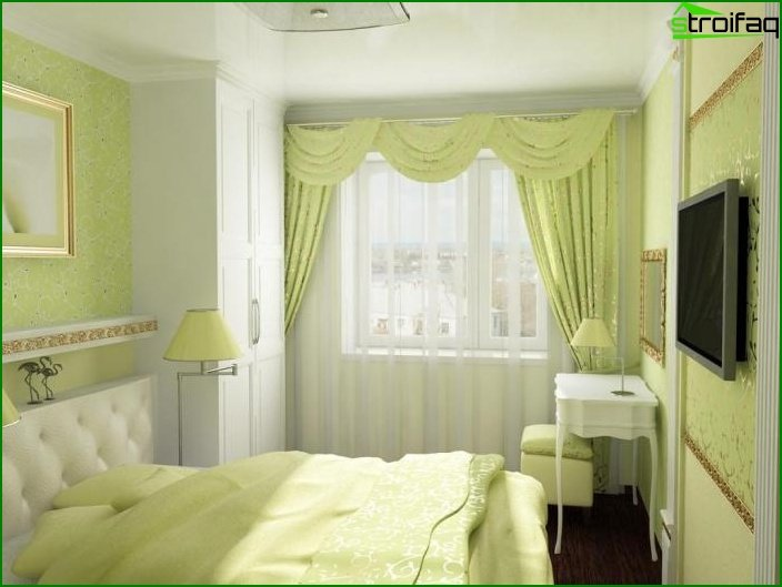 Design of a small bedroom - photo 12