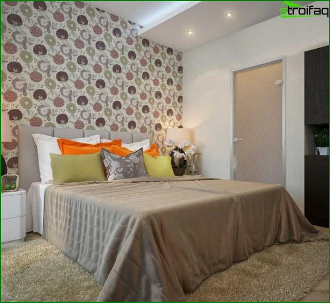 Design of a small bedroom - photo 14