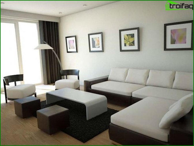Modern design of the living room 3