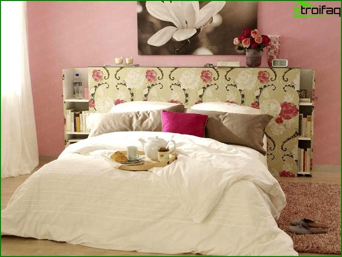 Design of a small bedroom - photo 15