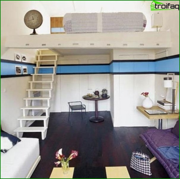 Design of a one-room apartment 8