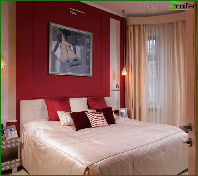 Design of a small bedroom - photo 16