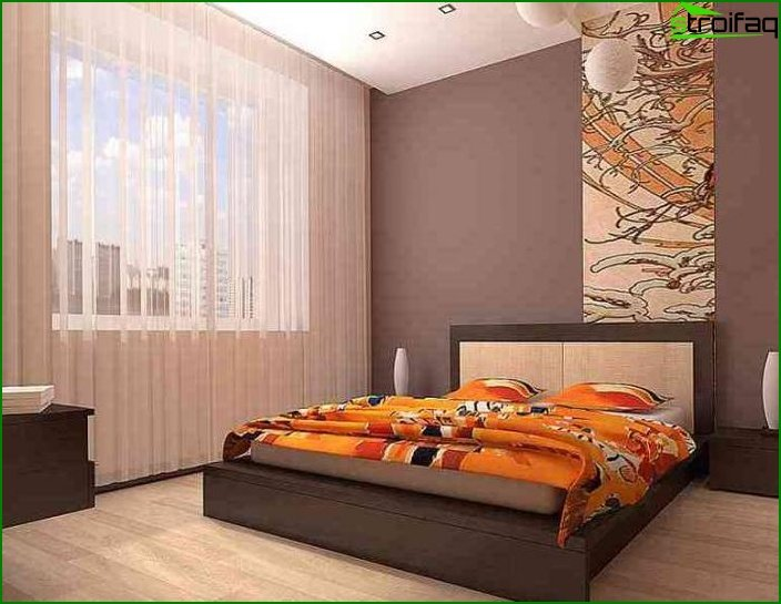 Design of a bedroom of small size
